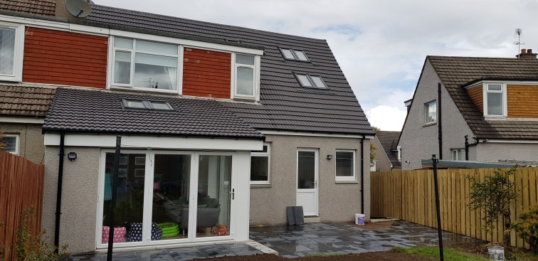 Sun room and 2 storey side extension - Rear