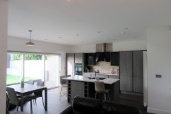 Completed open plan kitchen